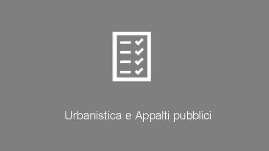 Urbanistica e Appalti pubblici